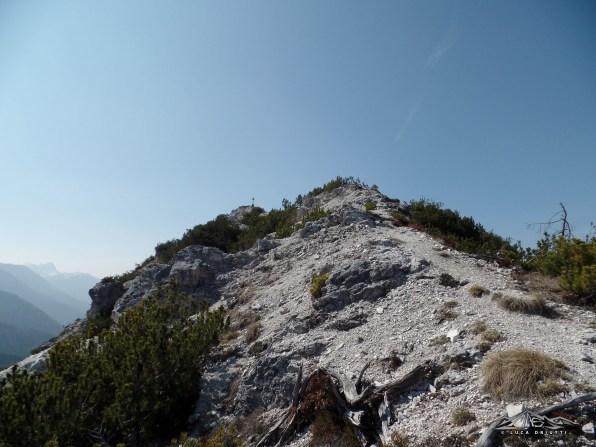 in vista della cima di Monte Nebria
