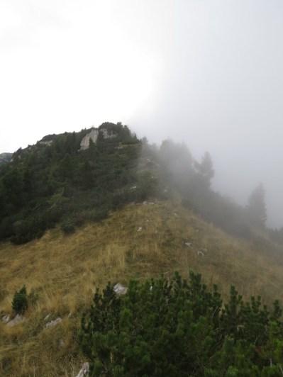 il crinale verso la vetta del monte Zita