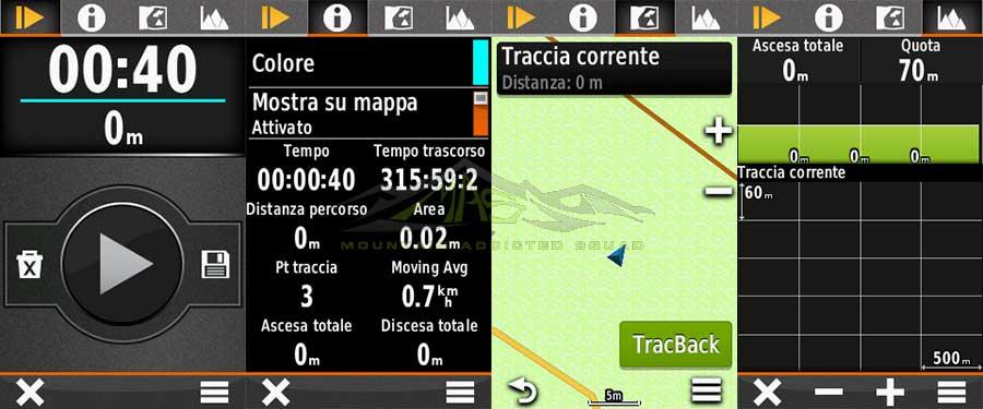 Garmin: Gestire la traccia GPS