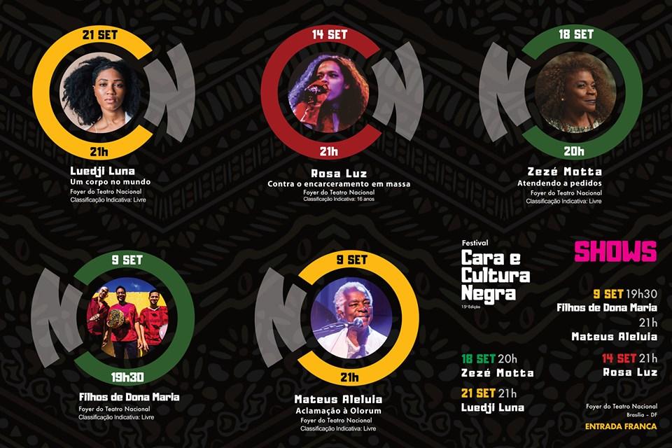 Shows Festival Cara e Cultura Negra.