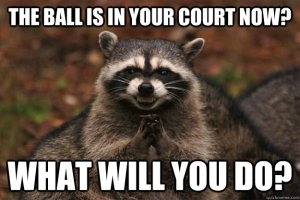 the ball is in your court