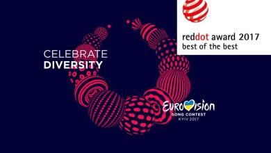 Photo of Kyiv's Eurovision branding wins Red Dot Design Prize