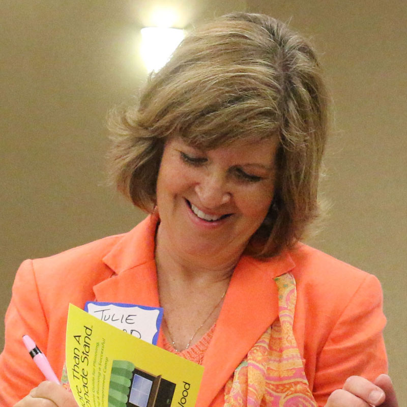 Julie Wood is the author of More Than A Lemonade Stand, a book about entrepreneurship for young people
