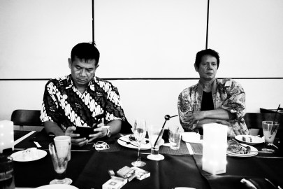 My uncle Mukti (left) and my father Sukarya (right).