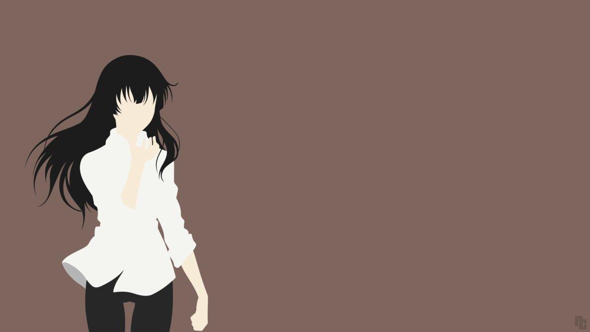 source : http://ncoll36.deviantart.com/art/Minimalist-Wallpaper-Sakurako-Beautiful-Bones-566490313