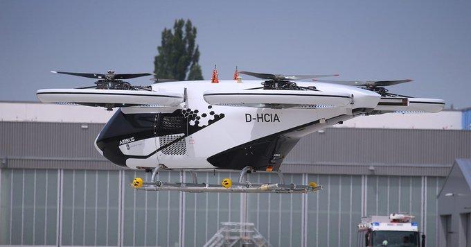 Táxis voadores são testados na Alemanha.