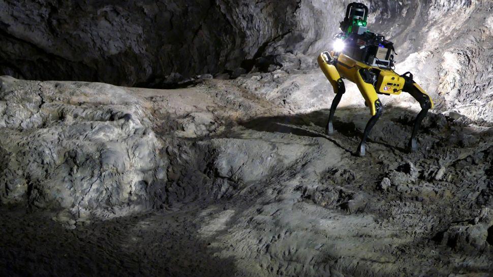 Conheça Au-Spot, o cão-robô irá explorar as cavernas em Marte.