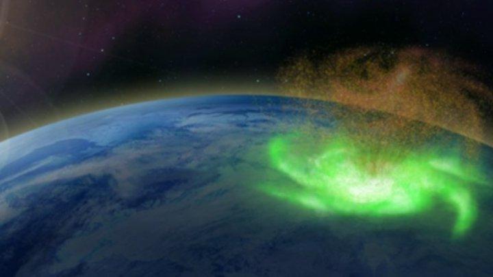 'Furacão espacial' observado sobre o Pólo Norte
