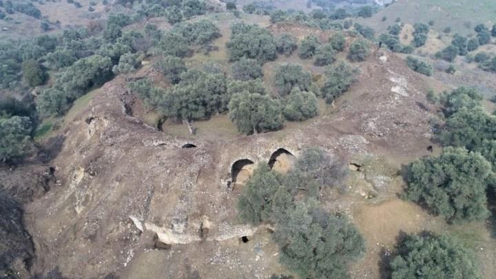 Arena de gladiadores da era romana descoberta na Turquia.