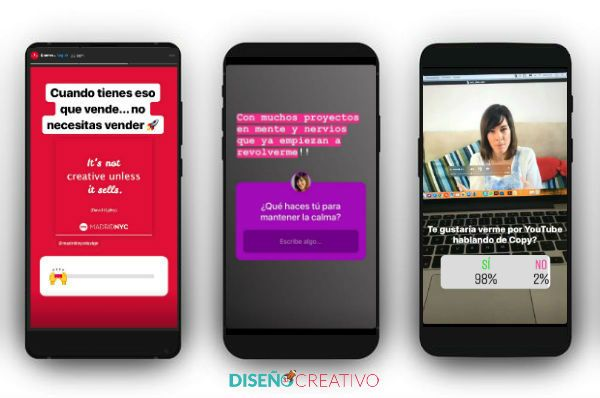 Ejemplos de stickers para hacer marketing en Instagram