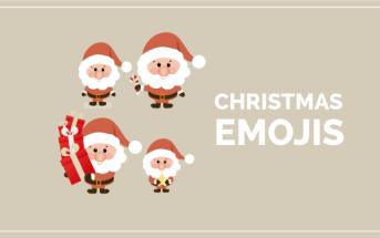 Imagen post emojis navideños