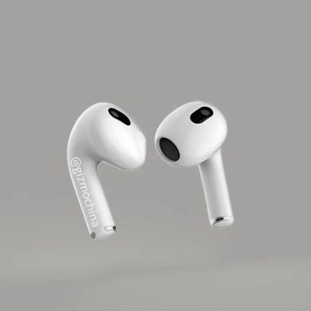 Render de los auriculares Airpods 3 de Apple