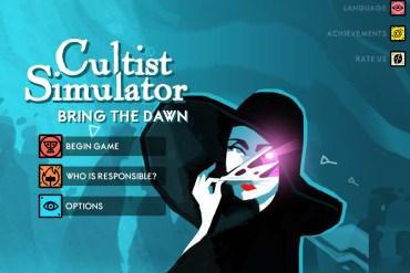 Menú principal del juego Cultist Simulator