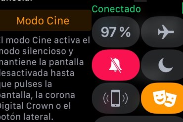 Modo Cine Apple Watch