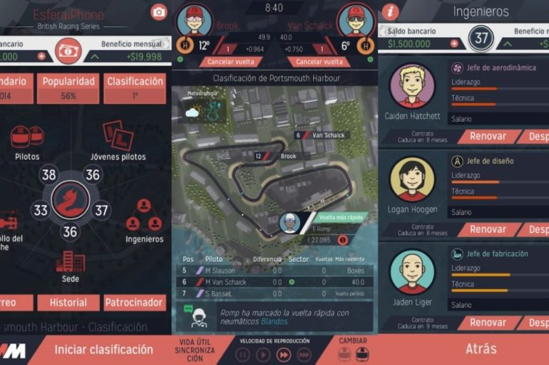 Motorsport Manager para iOS - Juego de gestión automovilística