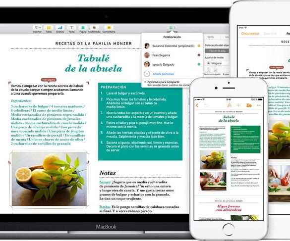Pages Apple iOS Mac gratis