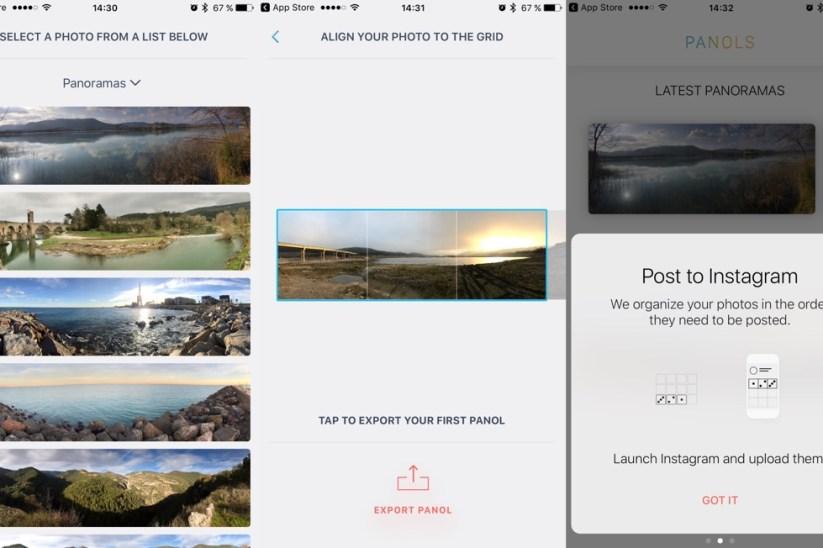 Panols, aplicación para crear composiciones en Instagram