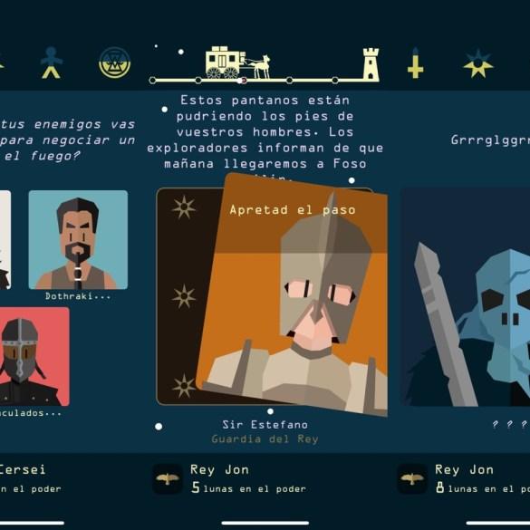 """Capturas de pantalla del juego """"Reigns: Juego de tronos"""""""