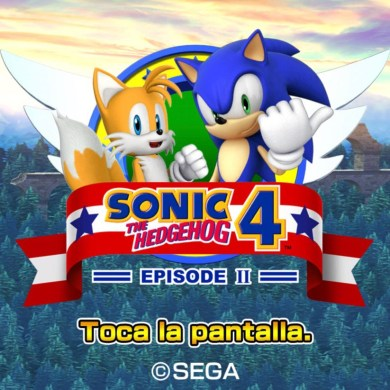 Sonic y Tails en la pantalla principal del juego Sonic 2