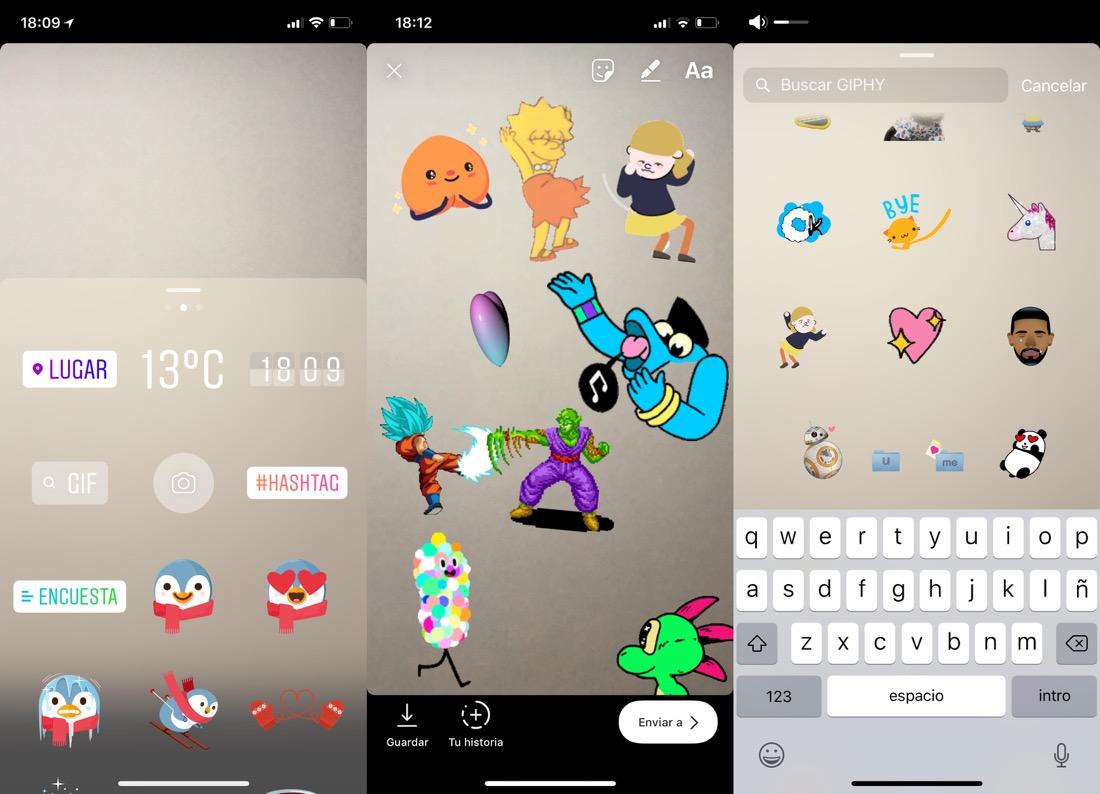 GIF animados en Instagram Stories