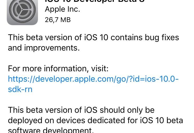 iOS 10 beta 8