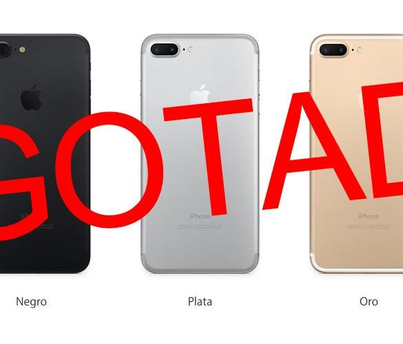 iPhone 7 Plus agotado