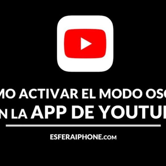 Activar modo oscuro app YouTube