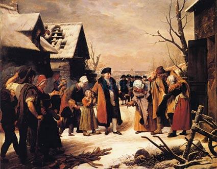 Louis-XVI-Distributing-Alms-to-the-Poor-artist-Louis-Hersent