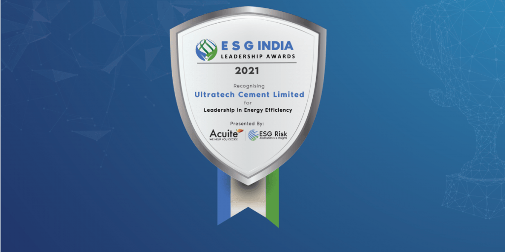 ESG India Leadership Award for Leadership in Energy Efficiency: Ultratech Cement Limited