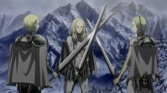 Picture of 3 warriors in the Claymore series.