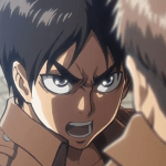 Eren's giving Jean the tongue lashing before the mission in Shingeki No Kyojin