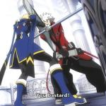 Ranga and his brother Jin fighting  in the anime Alter Memory