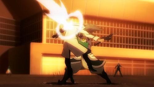 Mahouka Koukou no Rettousei  screenshot from episode 26 finale of the fight with Lu Gonghu the beast