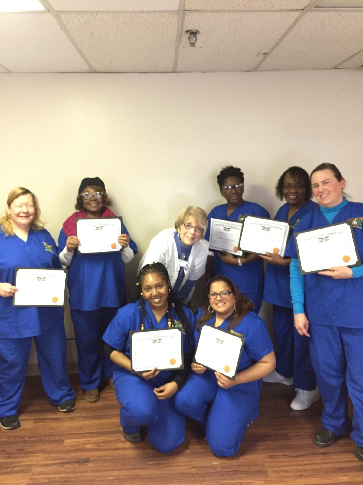 Congratulations To The Certified Home Health Aide Class Of February