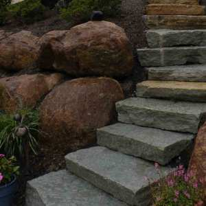 Stone Steps in Lancaster, PA Eshelman Mill Gardens and Landscapes