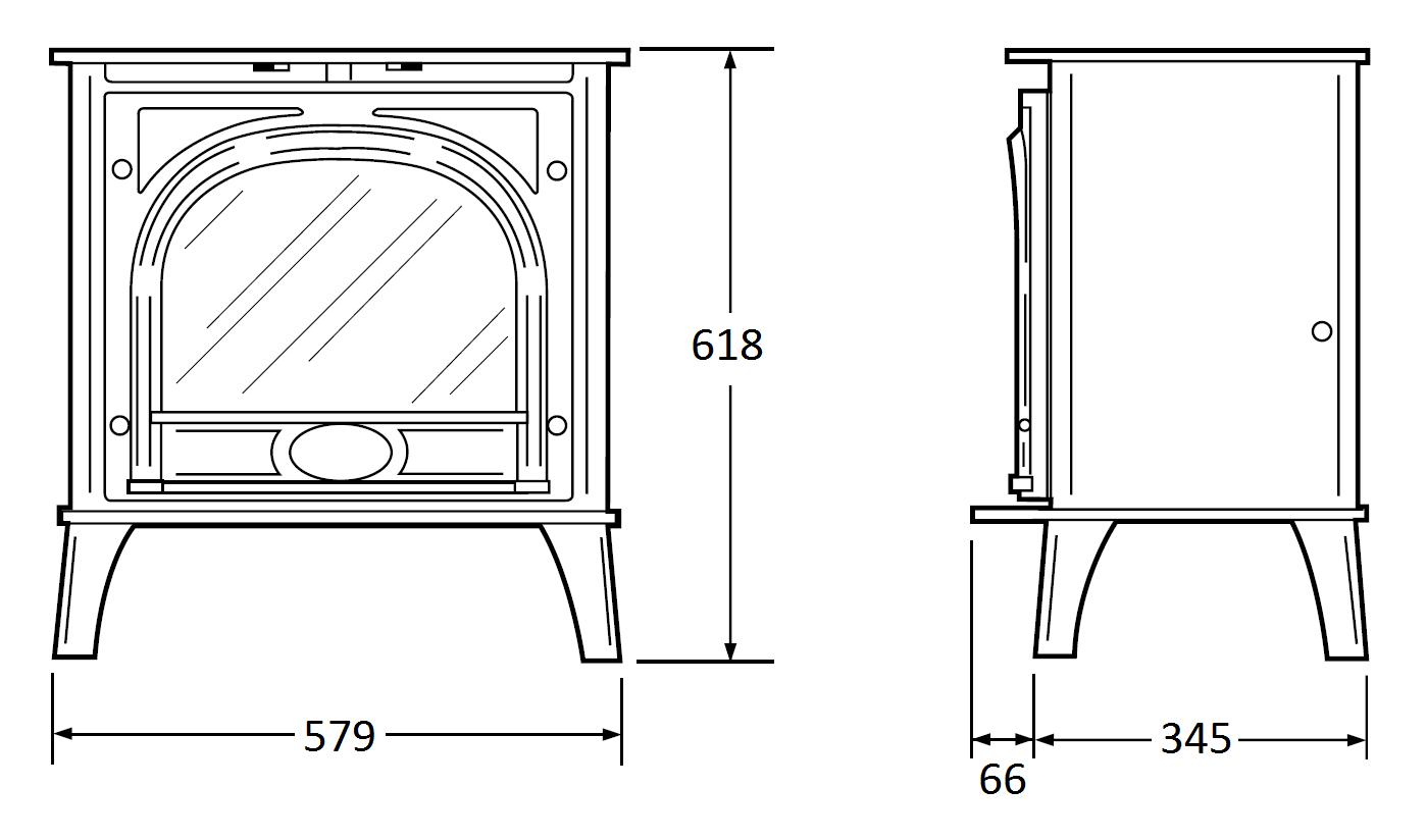 Stockton Medium Electric Esher Fireplaces