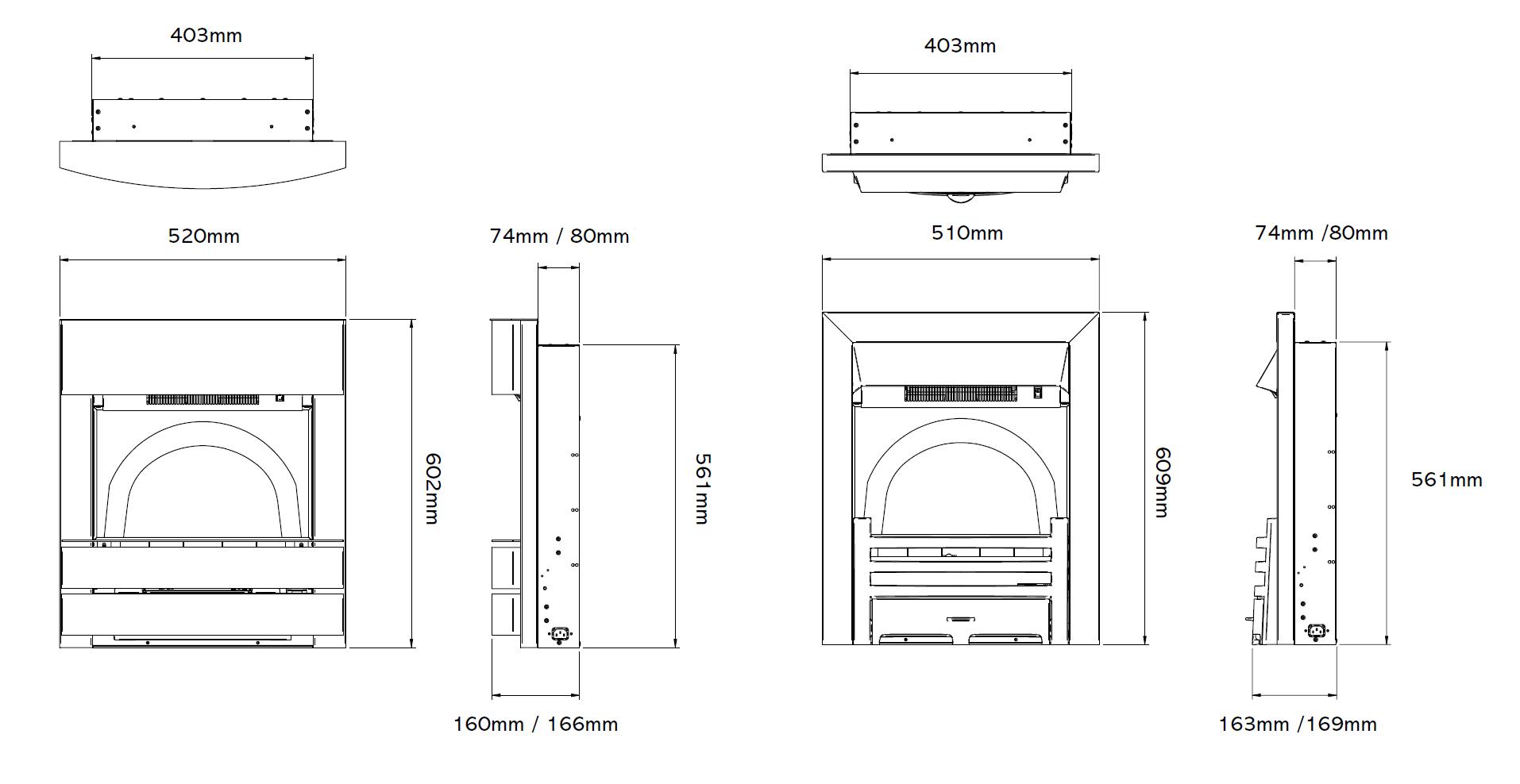 Logic2 Electric Esher Fireplaces