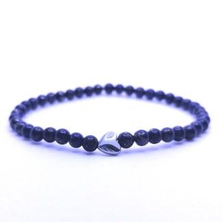 Náramek lapis lazuli 4 mm se srdíčkem