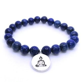 Náramek lapis lazuli 8 mm s Buddhou