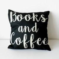 Povlak na polštář Books and Coffee