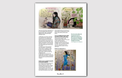 Magazine N°1 - jardinage sur balcon - Cécile Poree illustratrice