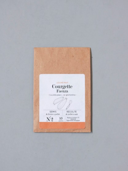 graines bio et reproductibles de courgette faenza