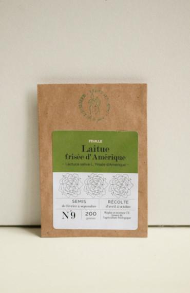 Premières pousses : box jardinage bio pour enfant : semences bios et reproductibles laitue frisée d'amaérique