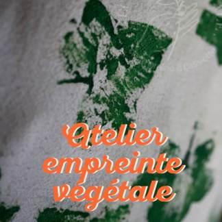atelier diy tampon végétal à Nanterre, à l'arrière du restaurant Foodentropie