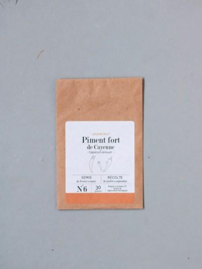 sachet de graines bio et reproductibles de piment fort de Cayenne - échoppe végétale