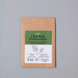 sachet de graines bio et reproductibles de chou kale Westlanse winter - échoppe végétale
