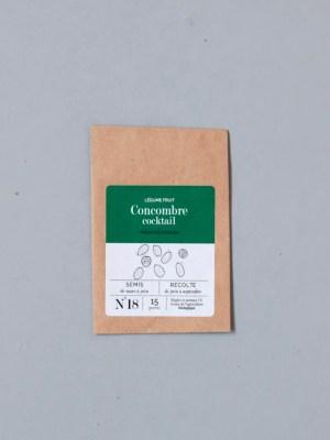 sachet de graines bio et reproductibles de concombre cocktail - échoppe végétale