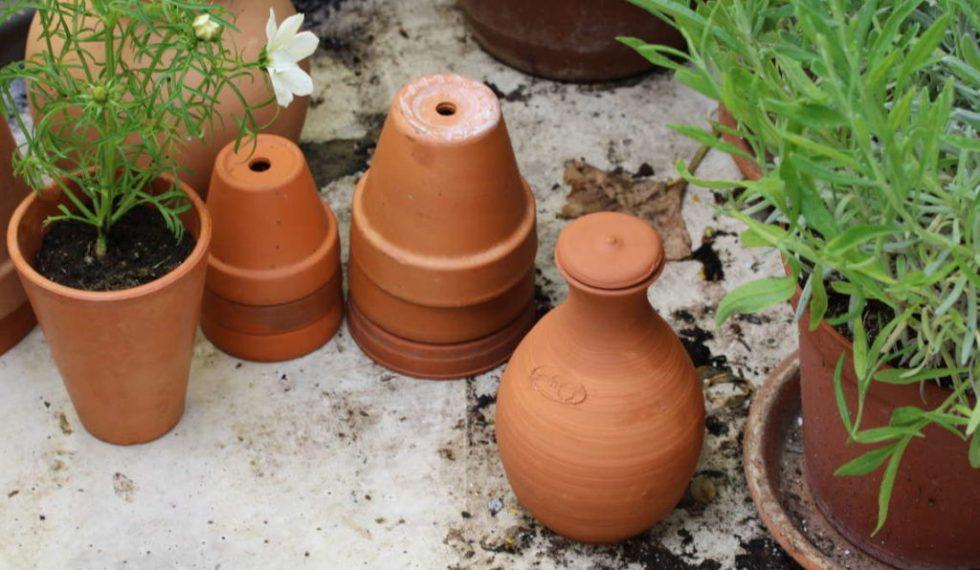 olla, jarre d'irrigation en terre cuite