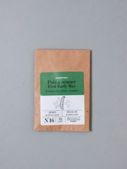 sachet de graines bio et reproductibles de pois à écosser first early may - échoppe végétale