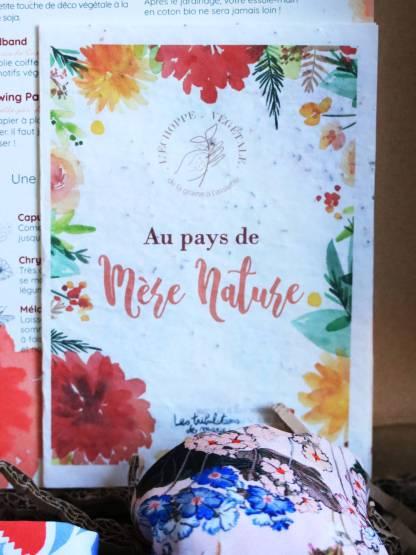 papier ensemencé growing paper imprimé en France avec les aquarelles fleuries de Les tribulations de Marie